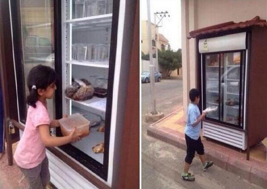 An anonymous Saudi Arabian made headlines across the world when he set up a fridge on the streets.