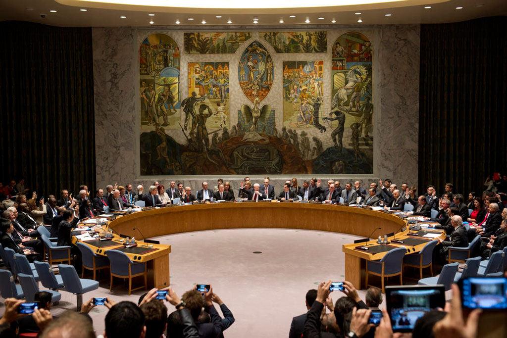 United Nations Security Council in session.