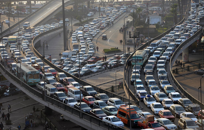 Egypt-cairo-traffic-jam