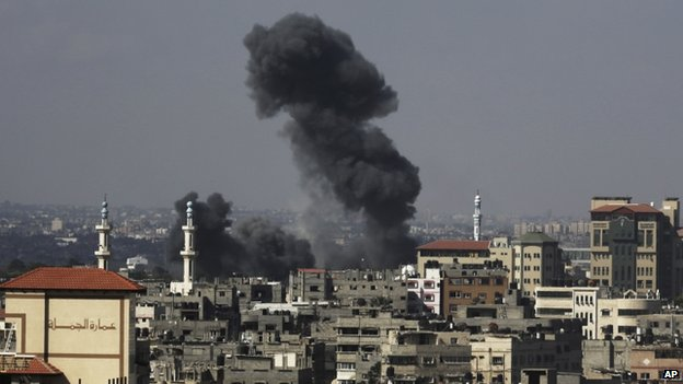 Israel resumed its attacks on Gaza on Wednesday after a six-hour halt to operations. Credit: AP