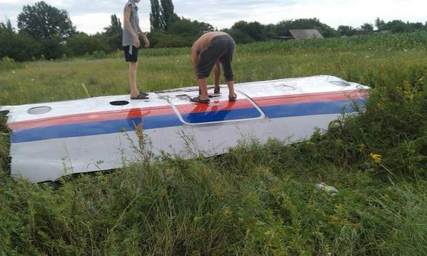 First photograph of the crashed MH17 flight provided to RT via an eye-witness.
