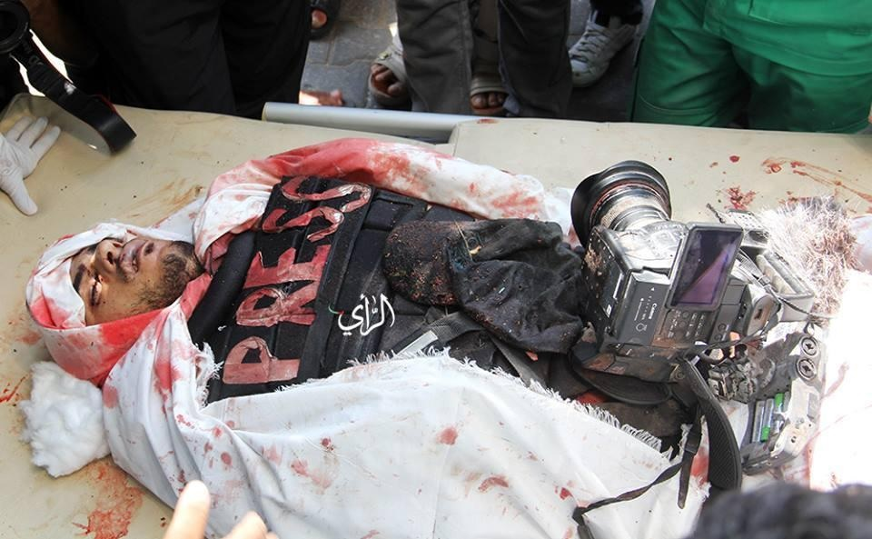 Photograph of social media of journalist Khaled Hammad killed in Gaza on Sunday