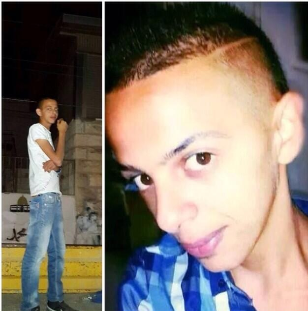 Photograph of the 16-year-old Palestinian teenager who was tortured and killed.