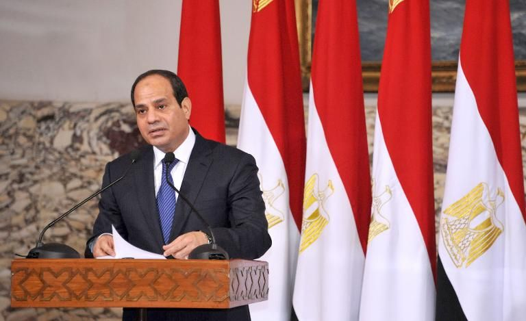 Archive photo of Sisi giving a speech in June 2014.