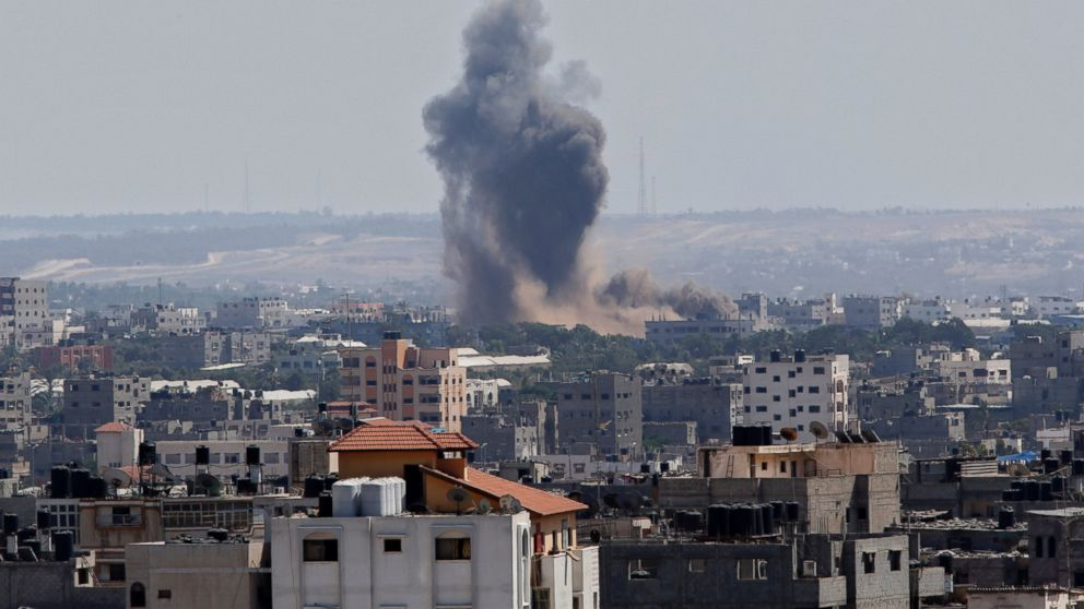 PHOTO: Smoke rises after an Israeli missile strike in Gaza City, July 15,. Smoke rises after an Israeli missile strike in Gaza City, July 15, 2014.
