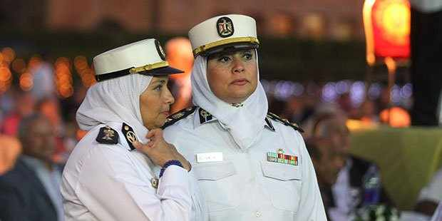 Female officers on the streets on Cairo. Photo: YOUM-7