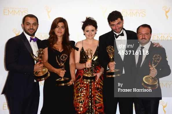 The four directors of The Square with their Emmys