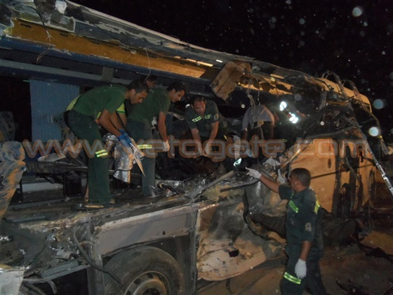 Scene of the crashed bus (Credit: Veto Gate)
