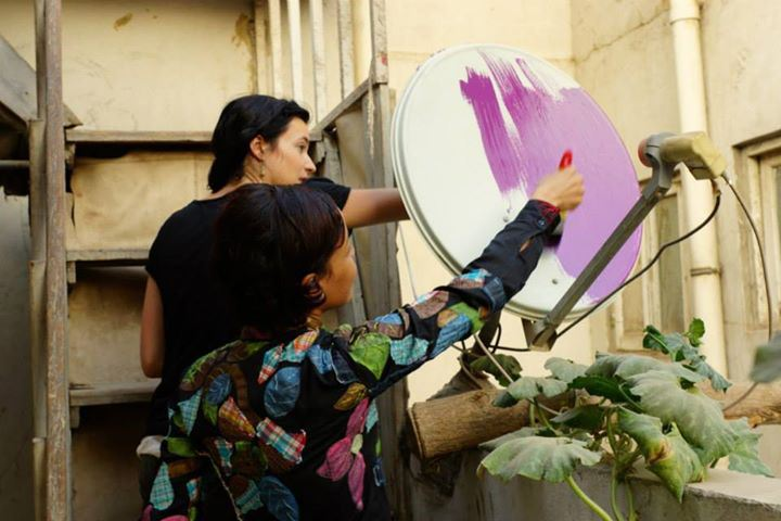 "Stoneking launches the ""Cairo Dish-Painting Initiative"" to beautify the city's skyline and use it as a medium to empower people (Photo by Giacomo Grescenzi)"