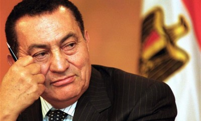 A younger Hosni Mubarak during his 30-year rule.