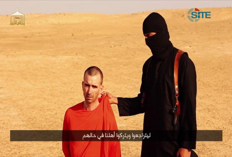 ISIS warned in a video that David Cawthorne Haines (left) would be beheaded.