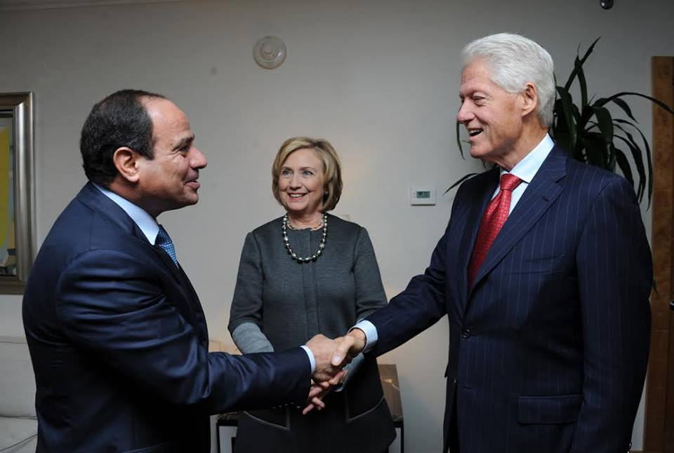 Egypt's Sisi meets with Bill and Hillary Clinton