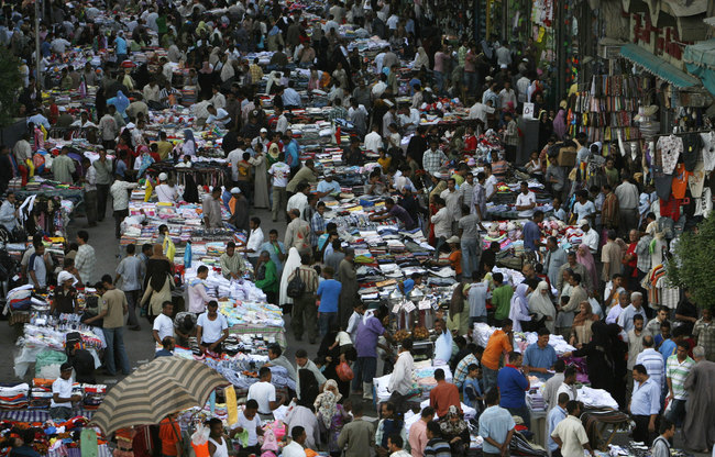 A busy Cairo street
