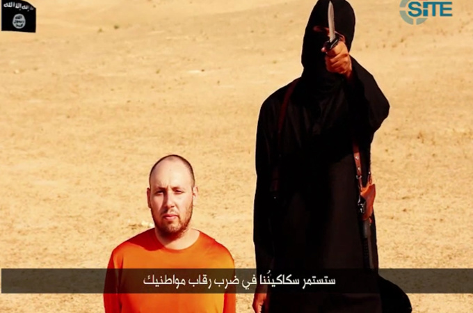 Still from video released of the beheading of US journalist Steven Sotloff