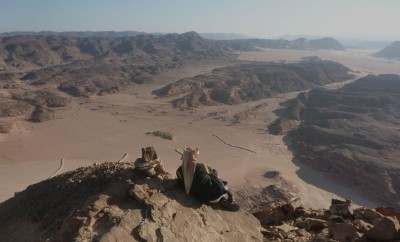 Bedouin guide, high on Jebel Mileihis.