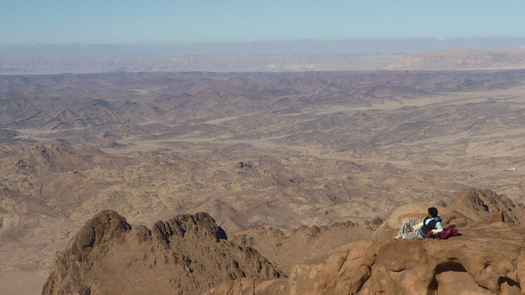 Where the highlands meet the lowlands: the view from Jebel Tarkiba, near St Katherine.