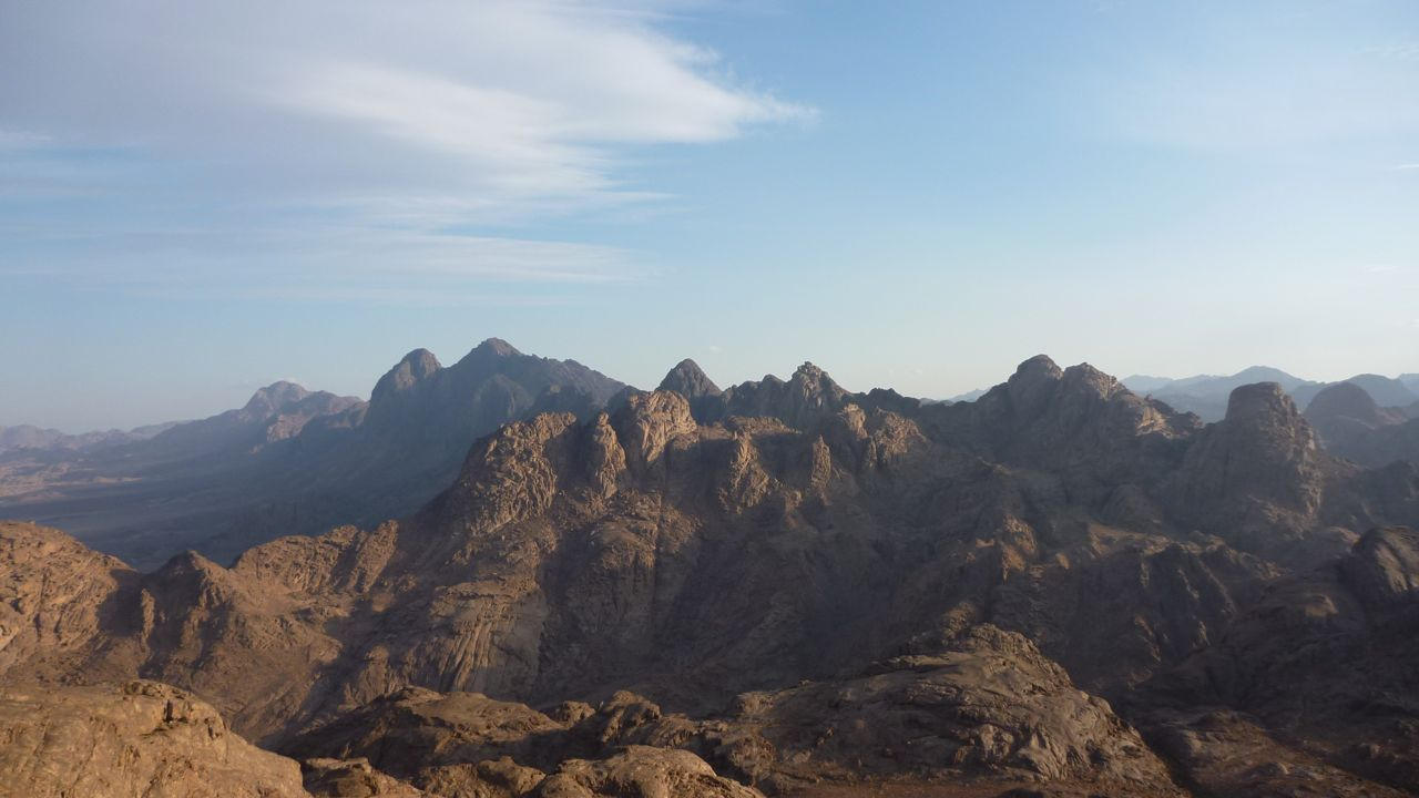 The rocky ranges of Jebel Hadana: a little-visited mountain near St Katherine.