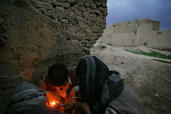 Afghan-Iranian addicts. Kabul, 2005.