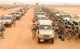 Part of the military force deployed in Egypt's North Sinai following recent attacks that killed at least 33 soldiers.