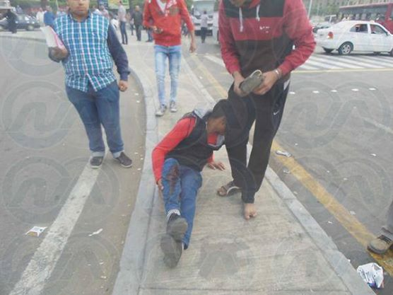 An injured student at the scene. Credit: ONA