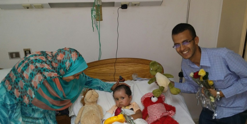 """""""We are all human"""" has arranged more than 17 hospital visits in Egypt and helped 3 severely injured patients to travel to Germany for treatment (Photo Courtesy of We are all human)"""