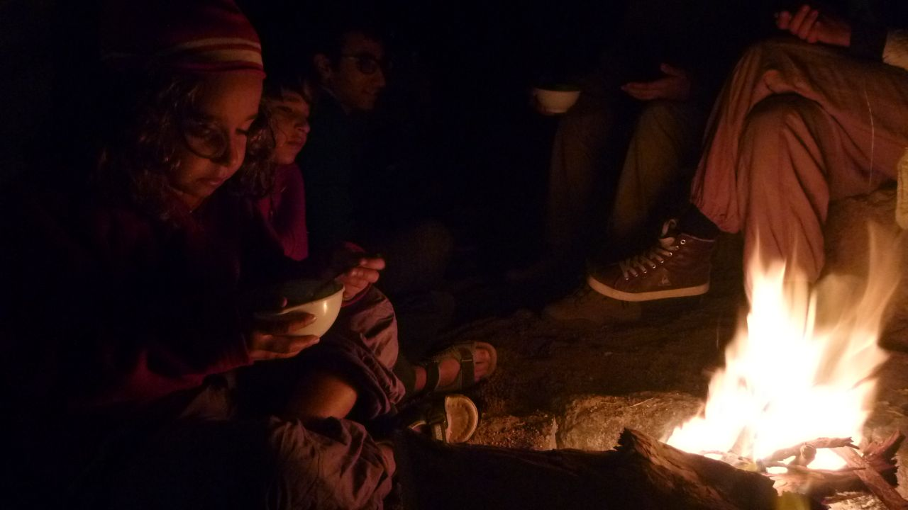 Children as young as six joined the hike, sleeping out in the mountains