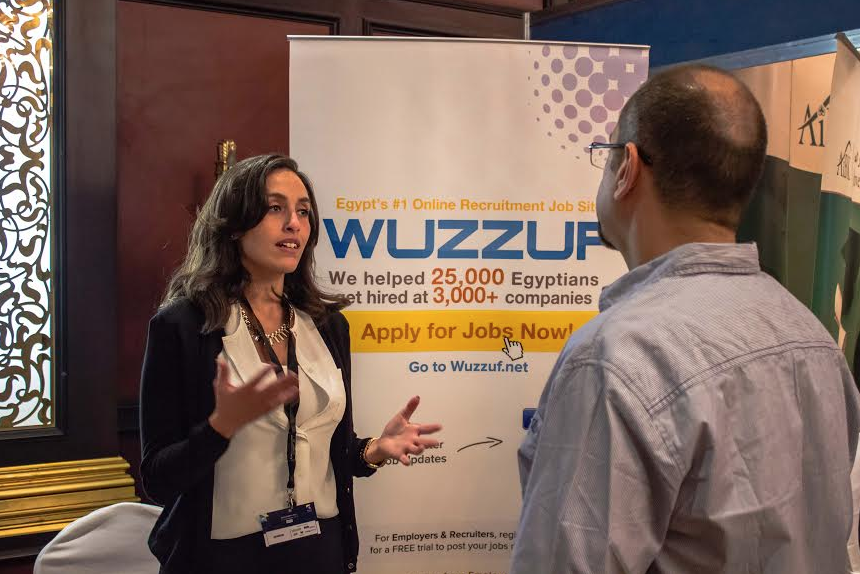 WUZZUF Booth in Financial Careers Job Fair in September 2014