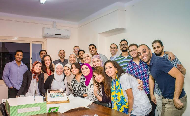 The Wuzzuf team celebrating their November 2014 achievements