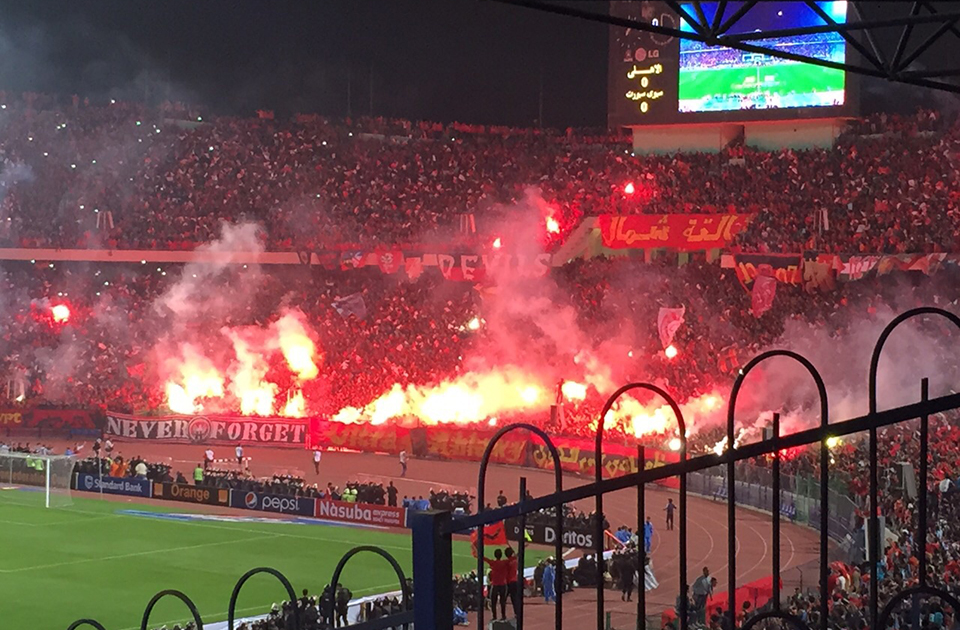 The Cairo Football Stadium before the match kicked off. Photo: Shereen Abd El-Azem