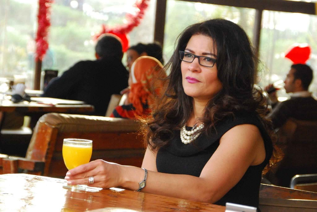 Egyptian journalistic writer and poet, Fatima Naoot. Courtesy of her Facebook page.