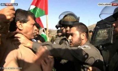 Sky News captured Abu Ein being choked by border police before his death.