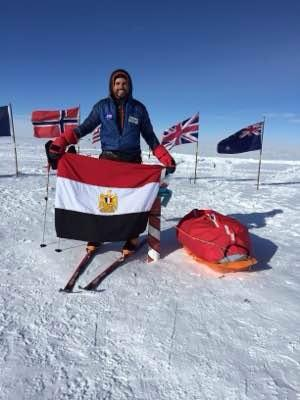 Omar Samra at the South Pole