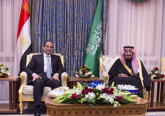 President Sisi and King Salman on January 19, 2015 when Salman was Crown Prince.