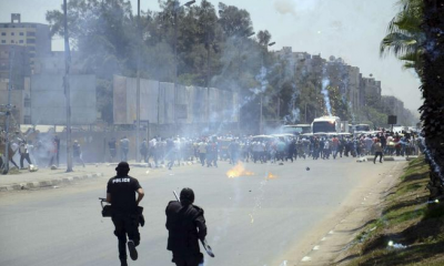Protests in Matareya turn violent.
