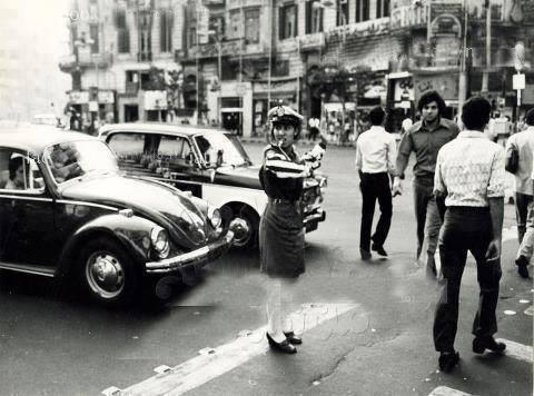 Women 60s traffic officer
