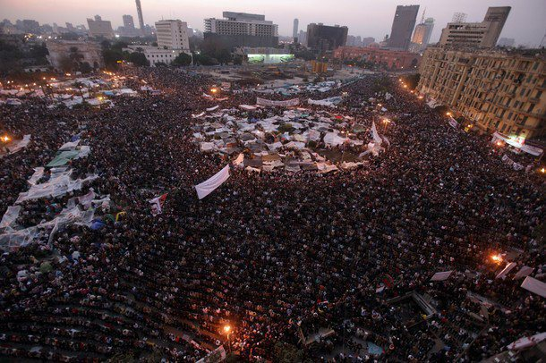 Tahrir Square during the January 25 revolution in 2011.