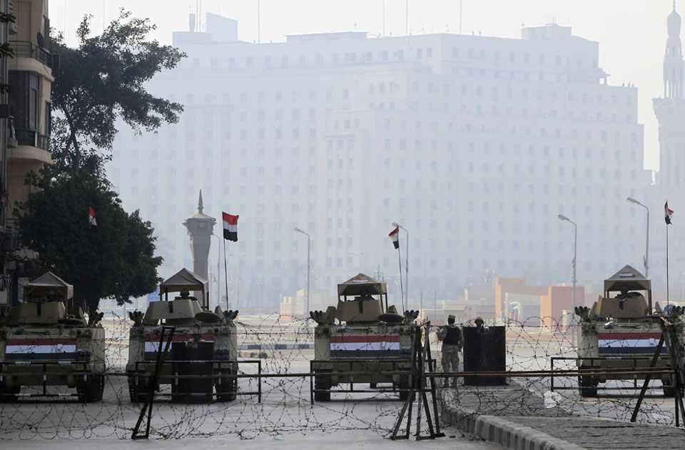 Tahrir Square shut down. Credit: Reuters