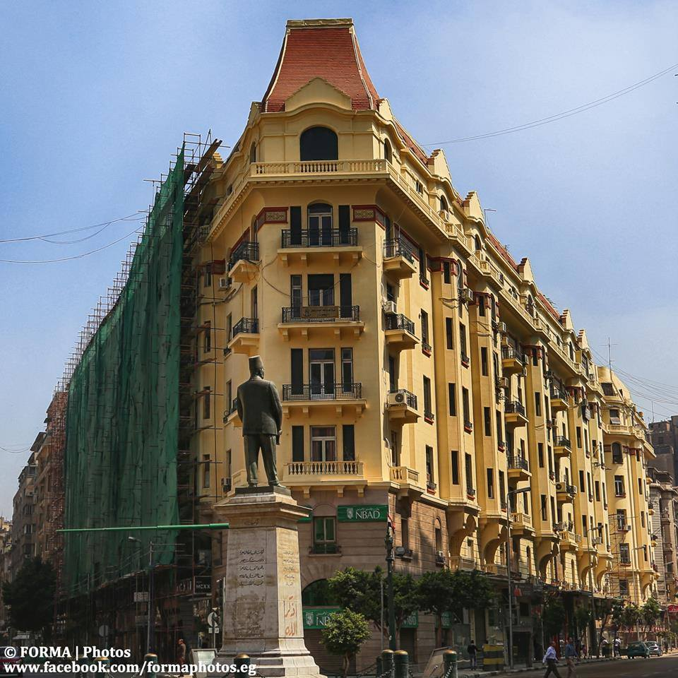 Repainting of downtown Cairo buildings. Credit: Muhamad Nour of Forma Photos Repainting of downtown Cairo buildings. Credit: Muhamad Nour of Forma Photos