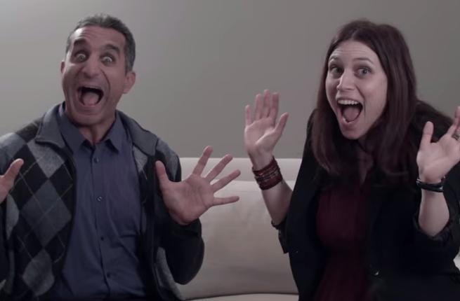 Bassem Youssef and Sara Taksler