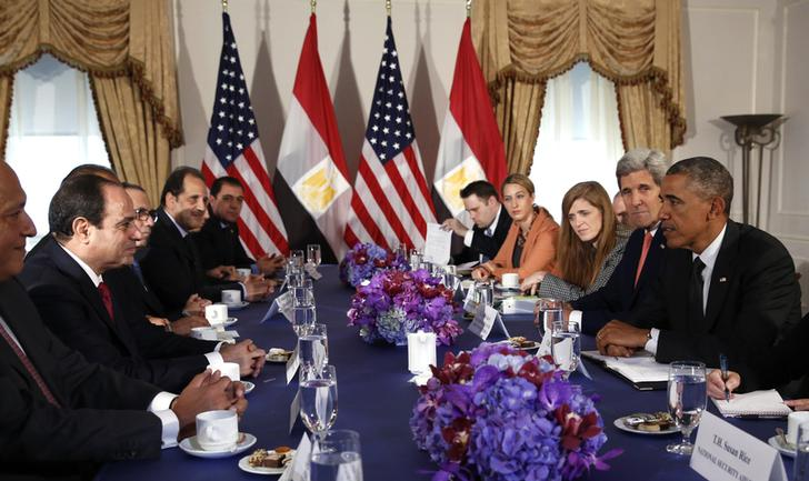 U.S. President Obama meets with Eygpt's President el-Sisi in New York