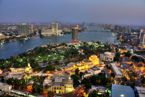 Zamalek Island as seen from Cairo Tower