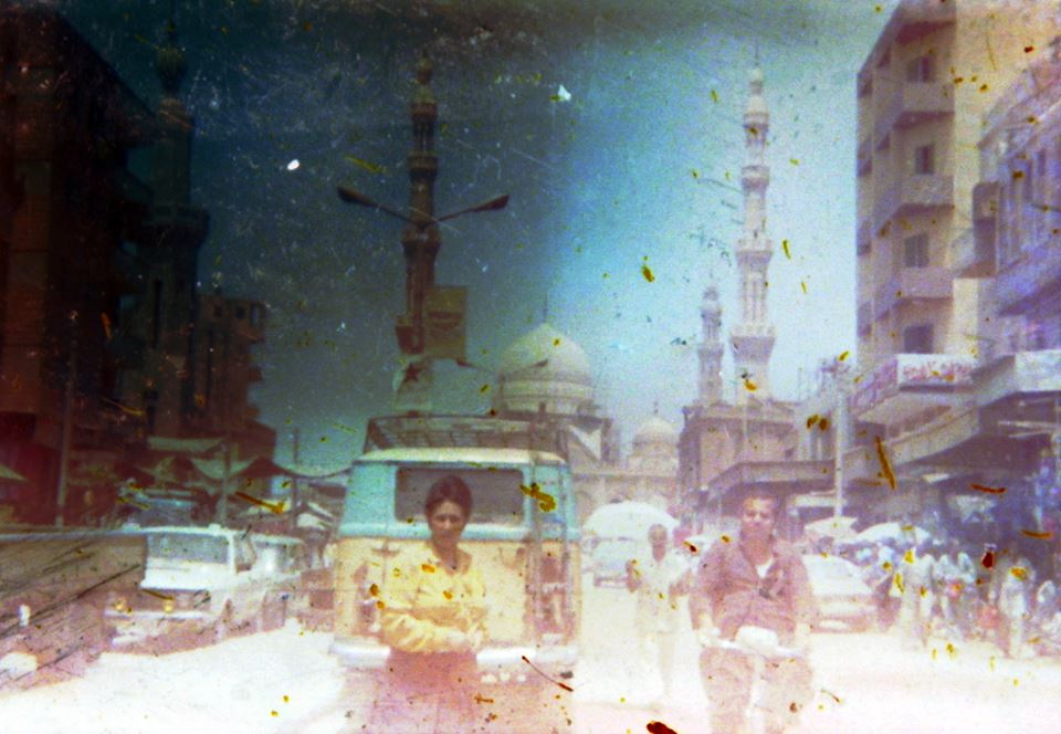 One of the images processed by Hamed from the abandoned film