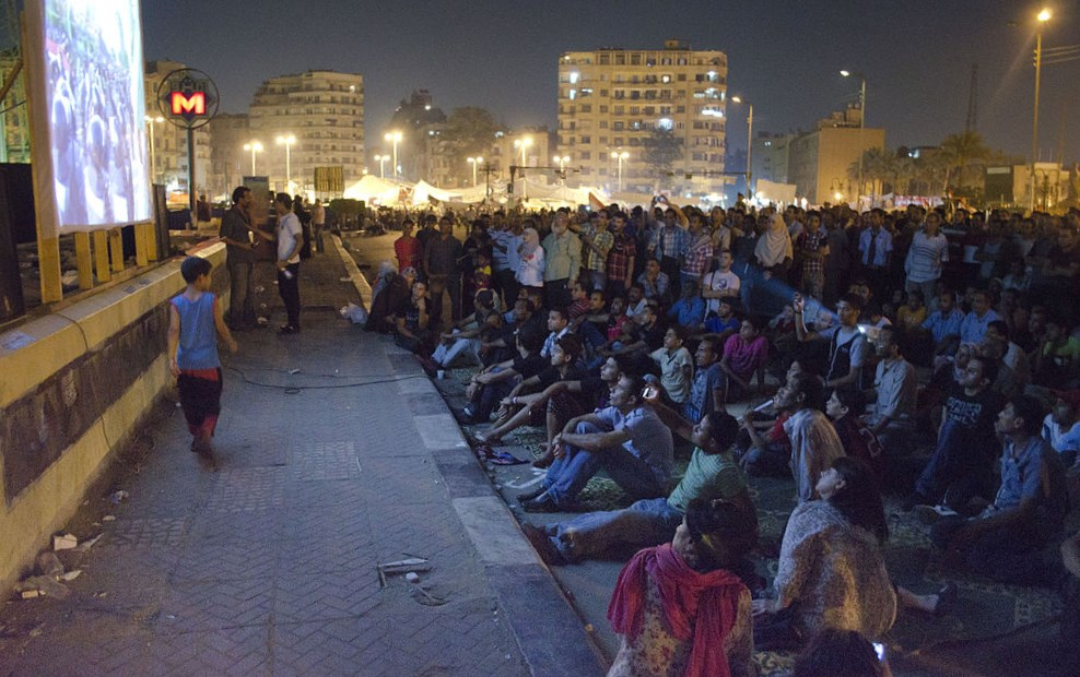 Mosireen Tahrir Cinema, 2011. Source: WikiMedia