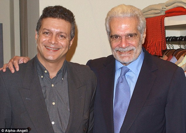 Omar Sharif and Tarek Sharif in 2001.