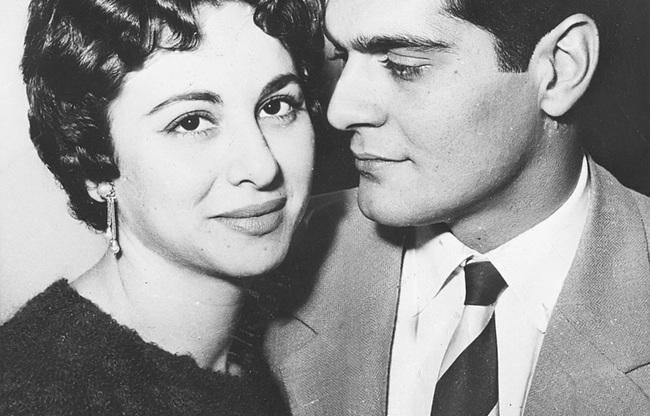 Omar Sharif and Faten Hamama