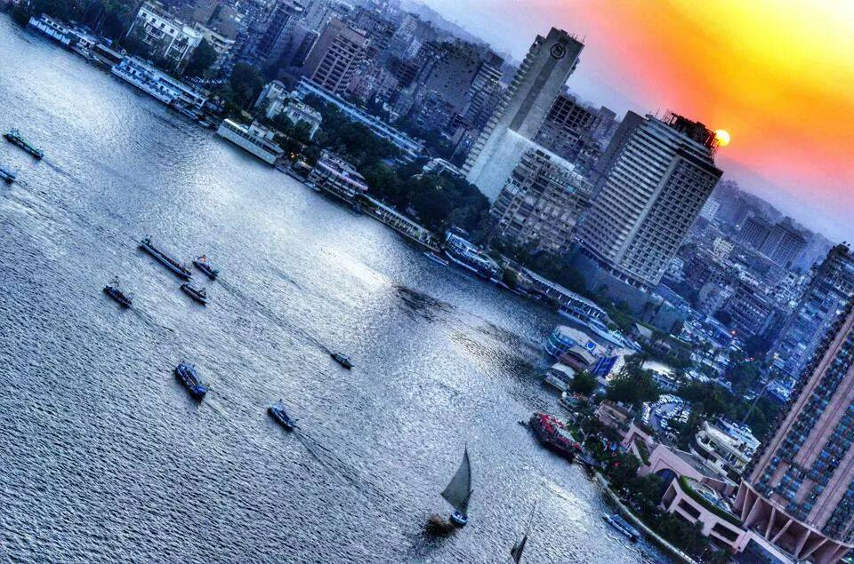 The view from the Four Seasons (Source: Four Seasons Hotel Cairo at Nile Plaza Facebook page)