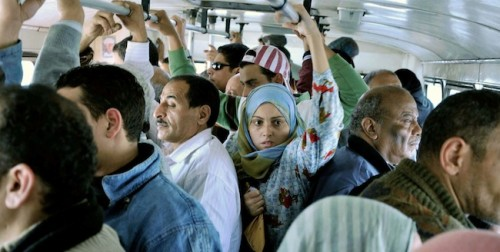 """Any time you are on public transportation you see men harassing women, young women being abused. As time goes by, harassment increases more and more."" From Mohamed Diab's 2010 film, '678'"