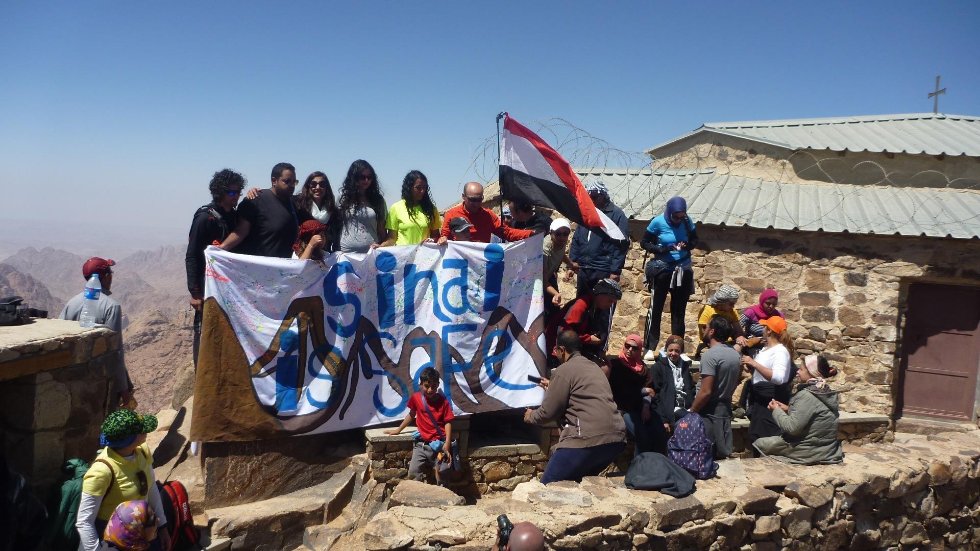 Hikers on top of Jebel Abbas Basha