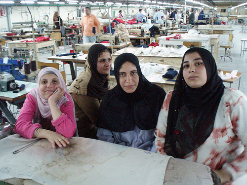 Mansura Espana Garment workers occupied their factory in 2008. Credit: Hossam elHamalawy