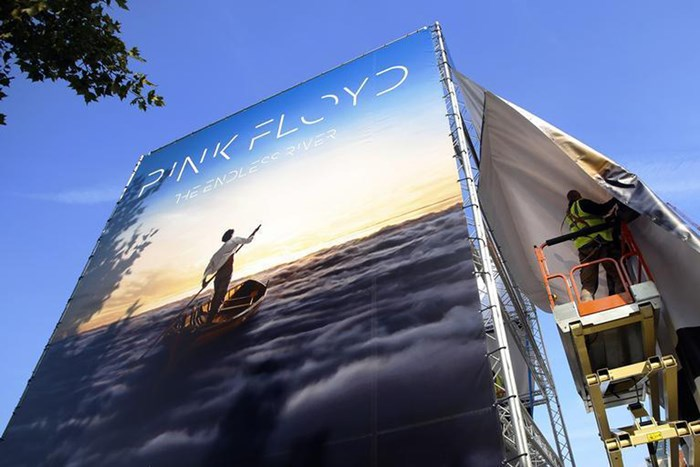 'The Endless River' album cover on display in London (Reuters)